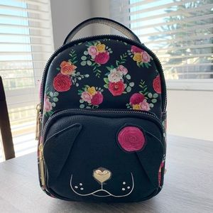 Betsey Johnson Mini Kitsch Dog Backpack Floral